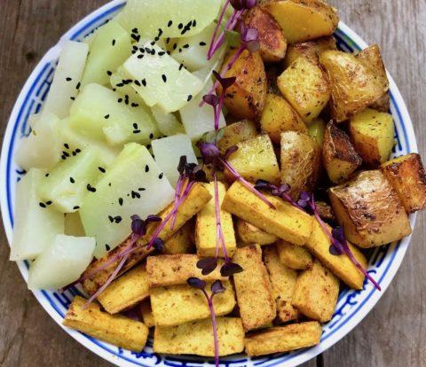 Kokosnuss-Bratkartoffeln