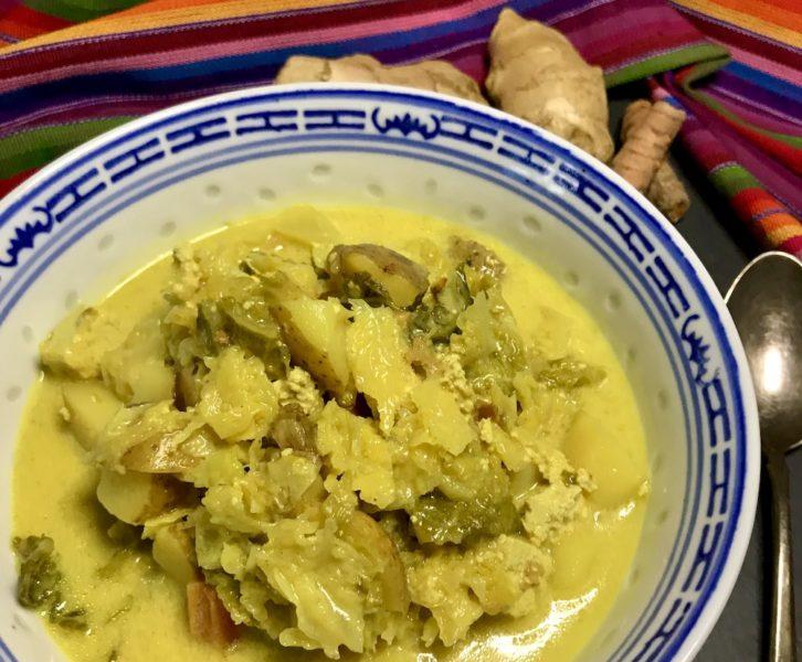 Wirsing-Kokos-Curry-Eintopf